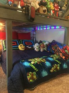Full size mattress fits perfectly!  Plan on adding a platform to sit it on with glowing neon green lights underneath!!