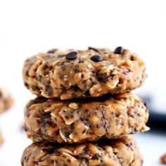 EASY No-Bake Breakfast Cookies mins prep!) – I Heart Naptime – Food – Snacks Healthy Breakfast Recipes, Brunch Recipes, Baby Food Recipes, Sweet Recipes, Baking Recipes, Vegan Recipes, Breakfast Cookies, Breakfast Bake, Protein Breakfast