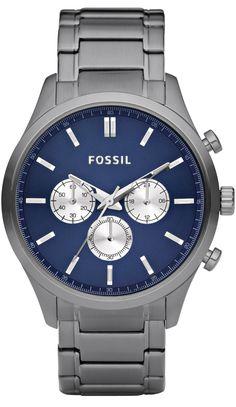 fossil fs4704 black stainless steel watch < 85 17 > fossil watch fossil men s fs4631 walter plated stainless steel smoke bracelet blue dial watch < 97 94 > fossil