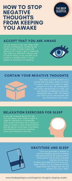 How to stop negative thoughts from keeping you awake Ways To Sleep, How To Sleep Faster, How To Get Sleep, Good Sleep, Sleep Better, Sleep Help, How To Manage Stress, Insomnia Causes, Insomnia Remedies