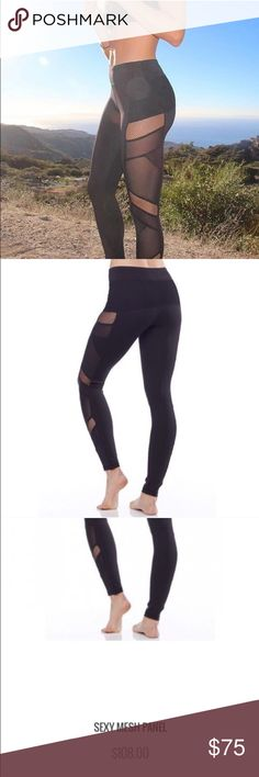Sexy mesh panel Leggngs Sexy Mesh panel workout leggings are so hot! You work for it so go for it and sport these everywhere - not just to the gym or Pilates - run your errands in these and see where the day takes ya👌abs no returns - please ask any questions. Great support for both a work out and on the streets.  Fabric Content88% Polyester 12% Spandex Fabric CareMachine wash cold, do not bleach, dry flat, iron low, do not dry clean, wash and dry with like colors. Beverly Hills based…