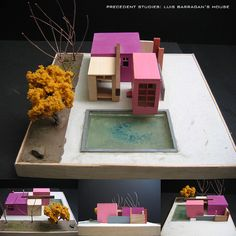 Luis Barragan's House Luis Barragan is used as a precedent study to design a… Concept Architecture, Architecture Student, Interior Architecture, Interior And Exterior, Interior Design Process, Arch Model, Famous Architects, 3d Prints, Design Model