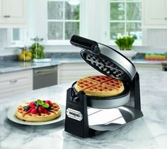 Waring Pro Belgian Waffle Maker, Stainless Steel/Black -NEW Free Shipping