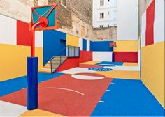Terrain de basket à Paris