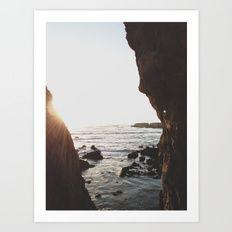 Shell Beach View Art Print