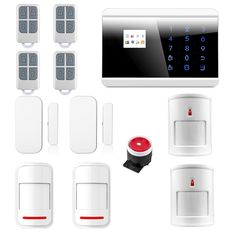IOS android APP Smart Control Wireless GSM PSTN Touch LCD Home House Intruder Alarm System Immune Pet Alarma 8218G