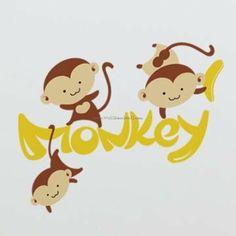 Zoo Monkey Animal Wall Decals