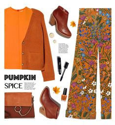 """""""Monochrome: Pumpkin Spice"""" by tamara-p ❤ liked on Polyvore featuring Victoria, Victoria Beckham, Leith, Gucci, Chloé, Givenchy, OPI and pumpkinspice"""