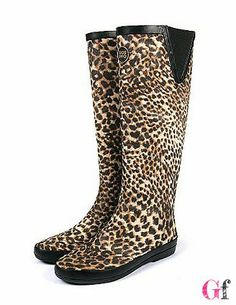 Galochas Helecho Leopardo #AnimalPrint #Goodfashion