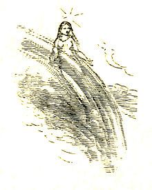 1896 illustration of a fairy from Ernest Vincent Wright's The Wonderful Fairies of the Sun.