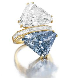 The Rare BVLGARI Blue Diamond – Two-stone Diamond Ring was going to be auctioned at the Christie's New York auction and everyone was expecting it to sell at a high price. The ring had an estimate of over $12 million and brought in $15.7 million, making it the top jewel sold at auction in 2010. In just five minutes of bidding the ring reached this exorbitant priced and finally went to an Asian collector for $15,762,500, with premium.