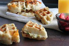 Savory Egg Scramble Stuffed Waffles - Happy Food, Healthy Life