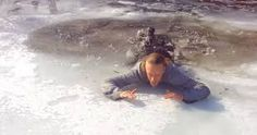 Self Rescue from Falling into ICE Off Grid Survival, Off The Grid, Ice, Snow, Outdoor, Outdoors, Ice Cream, Outdoor Games, The Great Outdoors