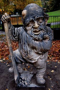 Salzburg/AustriaUgly 18th-century dwarf statues living in a perfectly landscaped Austrian garden.
