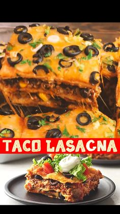 Mexican Dishes, Mexican Food Recipes, Dinner Recipes, Fall Recipes, Taco Lasagna, Mexican Lasagna, Good Food, Yummy Food, Pasta