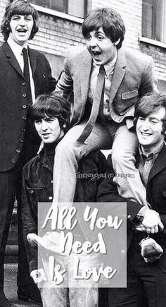 All You Need is Love // Beatles Wallpaper Made by: @beatles.bingo on Instagram
