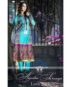 Ayesha Somaya New Lawn Collection 2015 - Complete Catalog