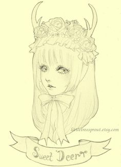 Deer girl by littletreesprout on etsy.