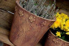 vysoký obal-měděný-ihned Earthenware, Horn, Cuff Bracelets, Pottery, Jewelry, Spoons, Clays, Plant Pots, Ceramica