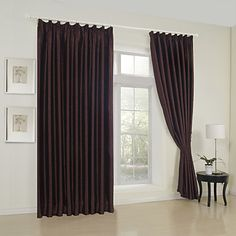 (Two Panels) Traditional Embossed Texture Blackout Curtains – USD $ 189.99