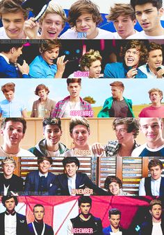 the boys: the past six months (harry styles,louis tomlinson,zayn malik,liam payne,niall horan,one direction)