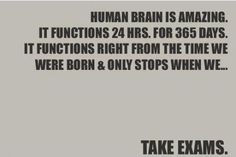The human brain is amazing...it so totally did this to me all the way through grad school!