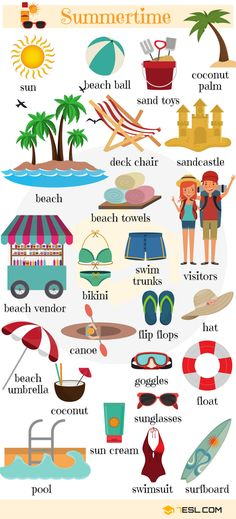 Summer Vocabulary in English