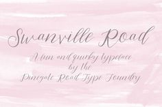 cool Swanville Road font CreativeWork247 - Fonts, Graphics, Themes, Templat...