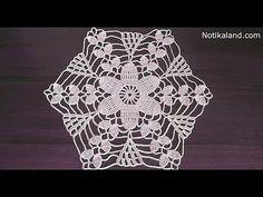 Crochet motif patterns Crochet motif tablecloth Part 1 - YouTube