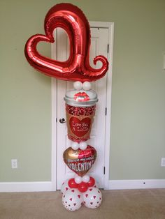 Love you Latte Valentine Balloon Delivery