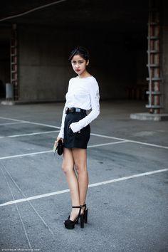 Denni, Fashion Blogger of The Chic Muse. via: carolinesmode.com/stockholmstreetstyle.