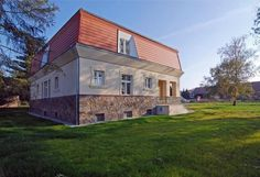 The cubist villa in a picturesque village of Libodřice, District of Kolín, Central Bohemian Region. Villa, Bohemian, Mansions, Architecture, House Styles, Furniture, Home Decor, Mansion Houses, Homemade Home Decor