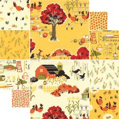 Farmyard by Sentimental Studios for Moda - Yellow
