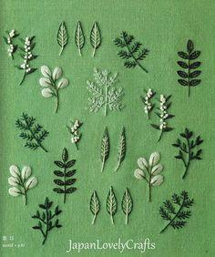 Plants & Flower #embroidery Patterns Natural Zakka Style