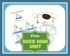 FREE Mini Duck Unit :: In this mini unit you will find fun filled duck themed learning activities like parts of a duck, life cycle of a duck, sensory themed field trip form, and more! :: SoYouCallYourself... #homeschool #education