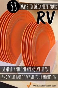 53 Ways to Organize Your RV - We've been on the road for 3 years. Living full time your RV, motorhome, travel trailer or wh - Travel Trailer Living, Small Travel Trailers, Travel Trailer Camping, Travel Trailer Remodel, Rv Trailers, Food Trailer, Trailer Diy, Living In A Camper, 5th Wheel Travel Trailers