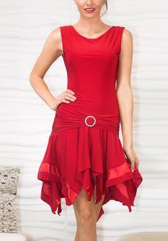 Dance America D705 - Banded Box Dress|Dancesport Fashion @ DanceShopper.com