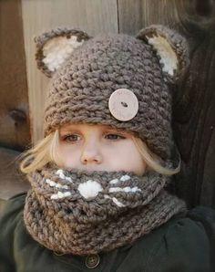 如果我有女儿,冬天就给她戴这样的毛线帽