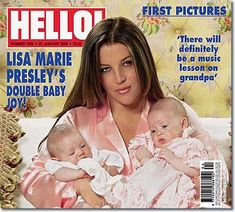 Lisa Marie Presley with twins, Finley and Harper