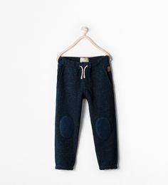 Image 1 of PLUSH TROUSERS WITH DRAWSTRING from Zara