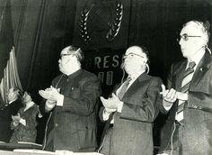 Santiago Carrillo el 20 de noviembre de 1979, durante la sesión de apertura del XII Congreso del Partido Comunista Rumano, celebrado en Bucarest. Foto EFE.