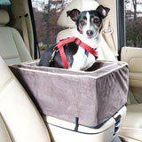 Luxury Console Pet Car Seat -largel Dark Chocolate/buckskin
