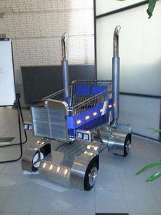 If you don't have cdls here's a nice truck for you lol Big Rig Trucks, Semi Trucks, Cool Trucks, Custom Big Rigs, Custom Trucks, Truck Driver Wife, Truck Drivers, Kids Wagon, Trucker Quotes