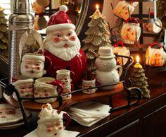 We had these Santa mugs when I was a kid. Wish I still had them.