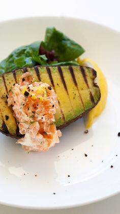 Grilled Avocado with a Smoked Salmon Cream from @sprinklessprout