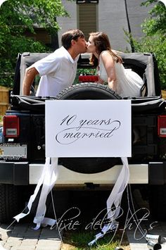 10 year anniversary get away, cake, and possibly a professional photographer to capture us as a couple...2 years away!