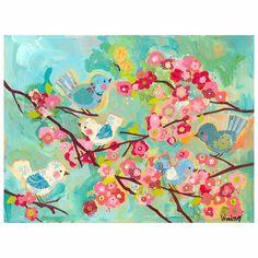 Oopsy Daisy Cherry Blossom Birdies Wall Mural Banner #laylagrayce