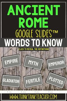 Try something new with this Digital Ancient Rome Interactive Google Slides Presentation ™ with self-checking questions! Perfect reading comprehension activity for distance learning in 4th grade, 5th grade, 6th grade and 7th grade! Topics include: Ancient Rome, the Colosseum, Julius Caesar, Romulus and Remus myth, Pompeii, Augustus and Spartacus #AncientRome #JuliusCaesar #AncientHistory #HomeSchool #Digital #4thgrade #5thgrade #6thgrade #Interactive #MiddleSchool #UpperElementary