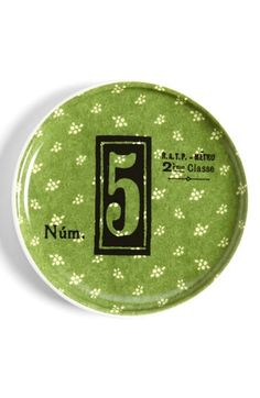 Rosanna 'Lucky Number 5' Porcelain Dish