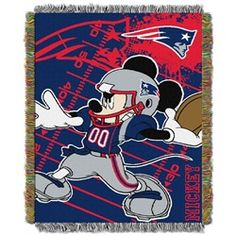 New England Patriots Throw Blanket Afghan Tapestry